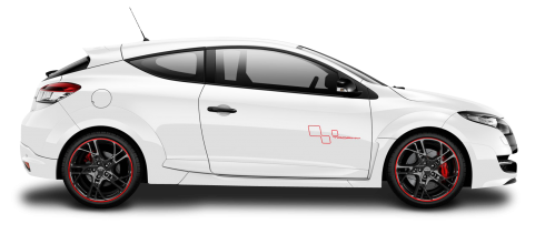 Renault Megane RS Trophy White PNG