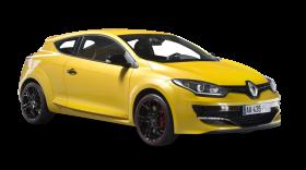 Renault Megane RS Yellow Car PNG
