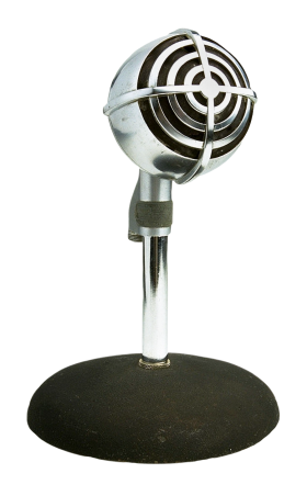 Retro Style Microphone PNG
