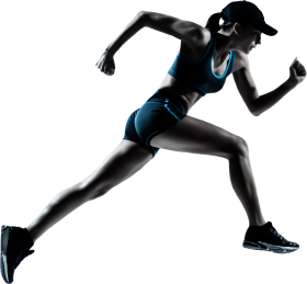 Running Women PNG