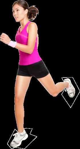Running Women PNG