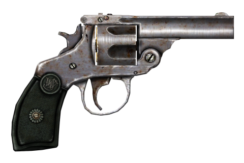 Rusty Revolver Rendered PNG