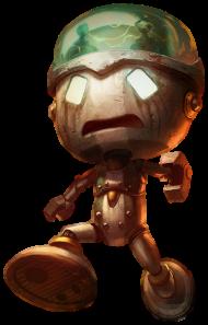 Sad Robot Amumu Skin PNG