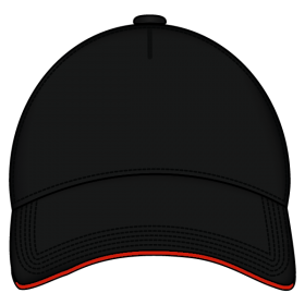 Sandwich Cap Black And Red PNG