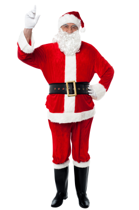 Santa Claus Holding Finger in The Air PNG