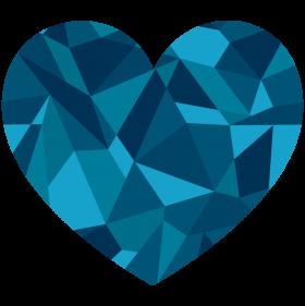 Sapphire Heart PNG