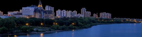 Saskatoon City Skyline PNG