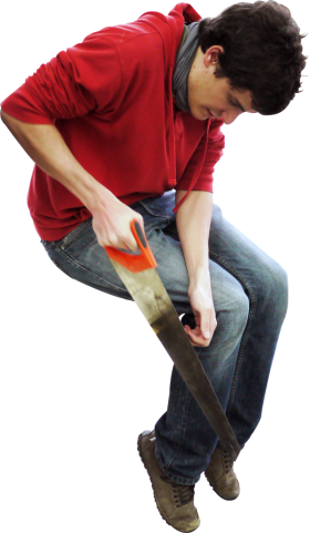 Sawing Sitting PNG