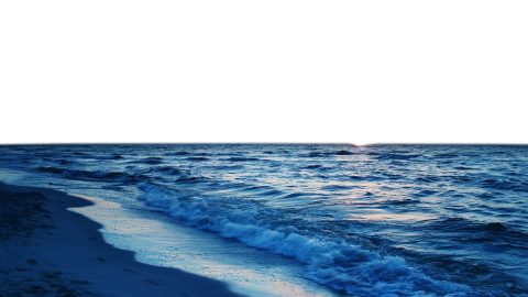 Sea With Beach PNG