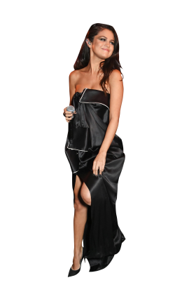 Selena Gomez Black Dress PNG