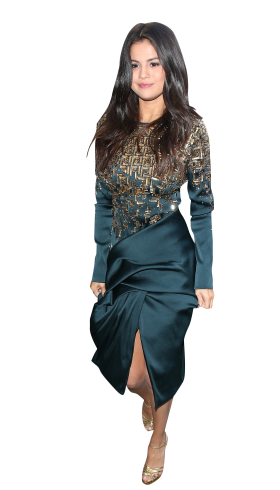 Selena Gomez Blue Dress PNG