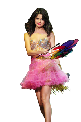 Selena Gomez on Stage PNG