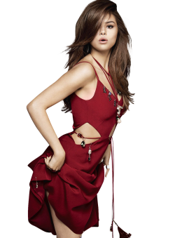 Selena Gomez Red Dress Sexy PNG
