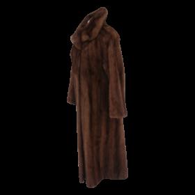 Sexy Women Yves Salomon fur coat brown PNG