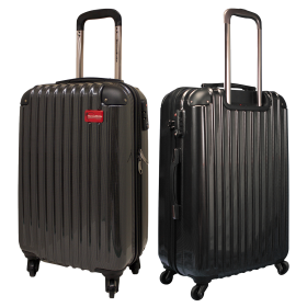 Shiny Black Luggage PNG