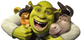 Shrek Cat And Burro PNG