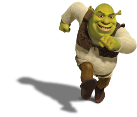 Shrek Running PNG