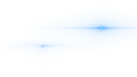 Side Blue Lens Flare PNG