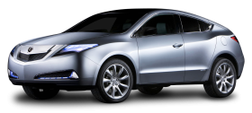 Silver Acura MDX Prototype Car PNG