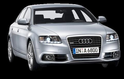 Silver Audi Car PNG