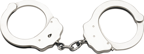 Silver Handcuff PNG