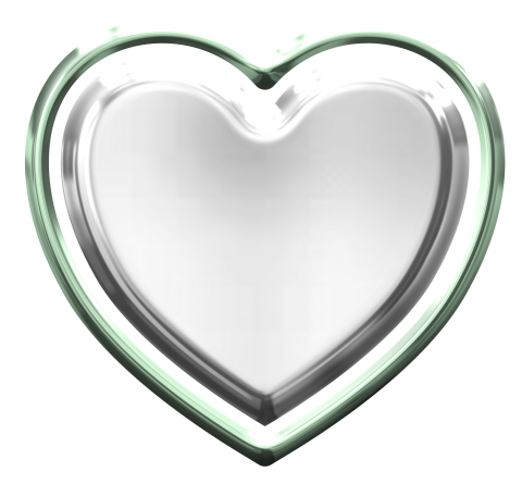 Silver Heart PNG