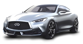 Silver Infiniti Q60 Luxury Car PNG