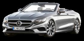 Silver Mercedes Benz S Class Cabriolet Car PNG
