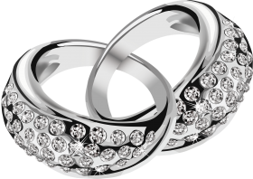 Silver Ring  With Diamond PNG