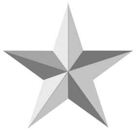 Silver Star PNG