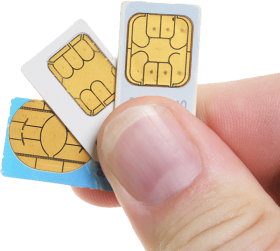 Sim Cards On Hand PNG