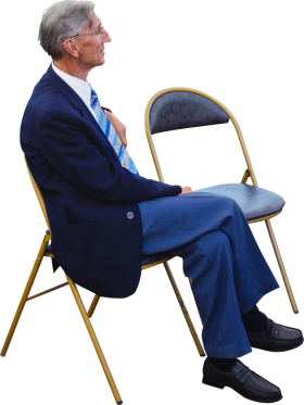 Sitting At A Wedding PNG