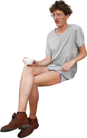 Sitting Coffee PNG