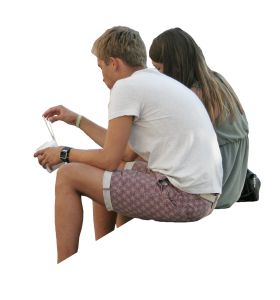 Sitting Man / Women PNG