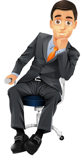 Sitting Man PNG