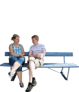Sitting Park Bench PNG