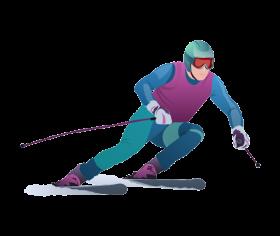 Skiing PNG