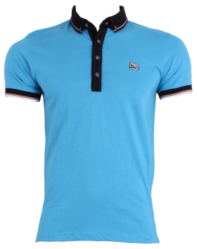 Sky Blue Men's Polo Shirt PNG