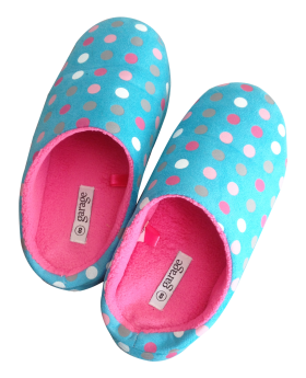 Slippers Garage Blue and Pink PNG