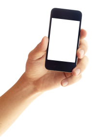 iPhone Smartphone in Hands PNG