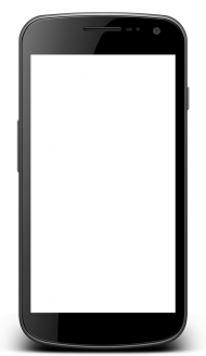 Smartphone with transparent screen PNG