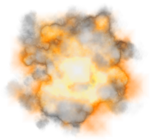 Explosion with Smoke PNG