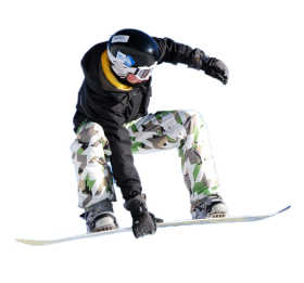 Snowboard Man PNG