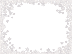 Snowflake Frame Icy PNG