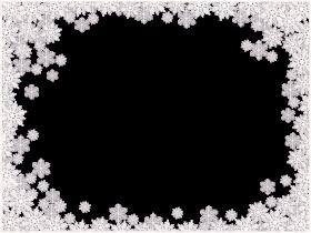 Snowflake Frame Icy PNG