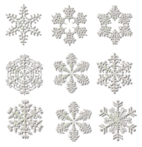Frozen Snowflake Collection  PNG