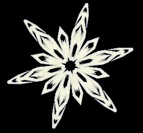 Freezing Snowflake White PNG