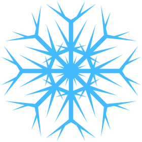 Icy Blue Snowflakes PNG