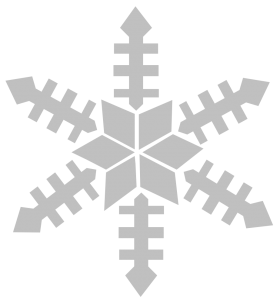 Silver Snowflake PNG