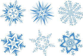 Blue Snowflake Collection PNG